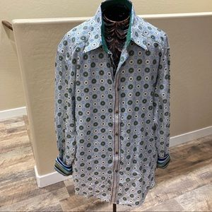 Robert Graham Silk Blend Button Front Shirt